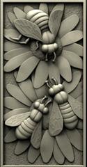 Силиконовый молд № 0035 Панно пчелы