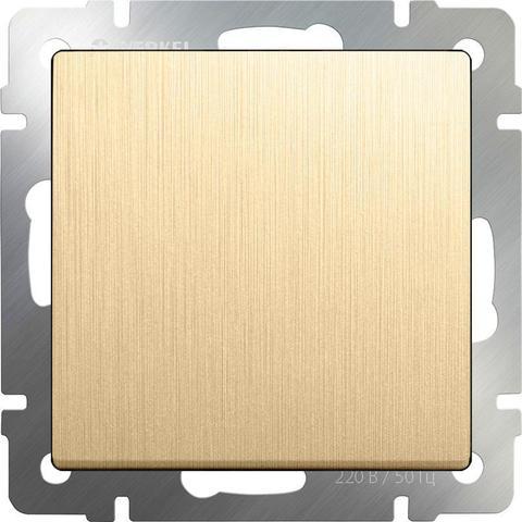 Werkel Выключатель W1112010 (WL10-SW-1G-2W) шампань рифленый  (1-кл прох)