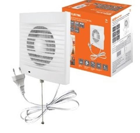 Вентилятор бытовой настенный 150 СВп, с выключателем и проводом 1,3 м, TDM