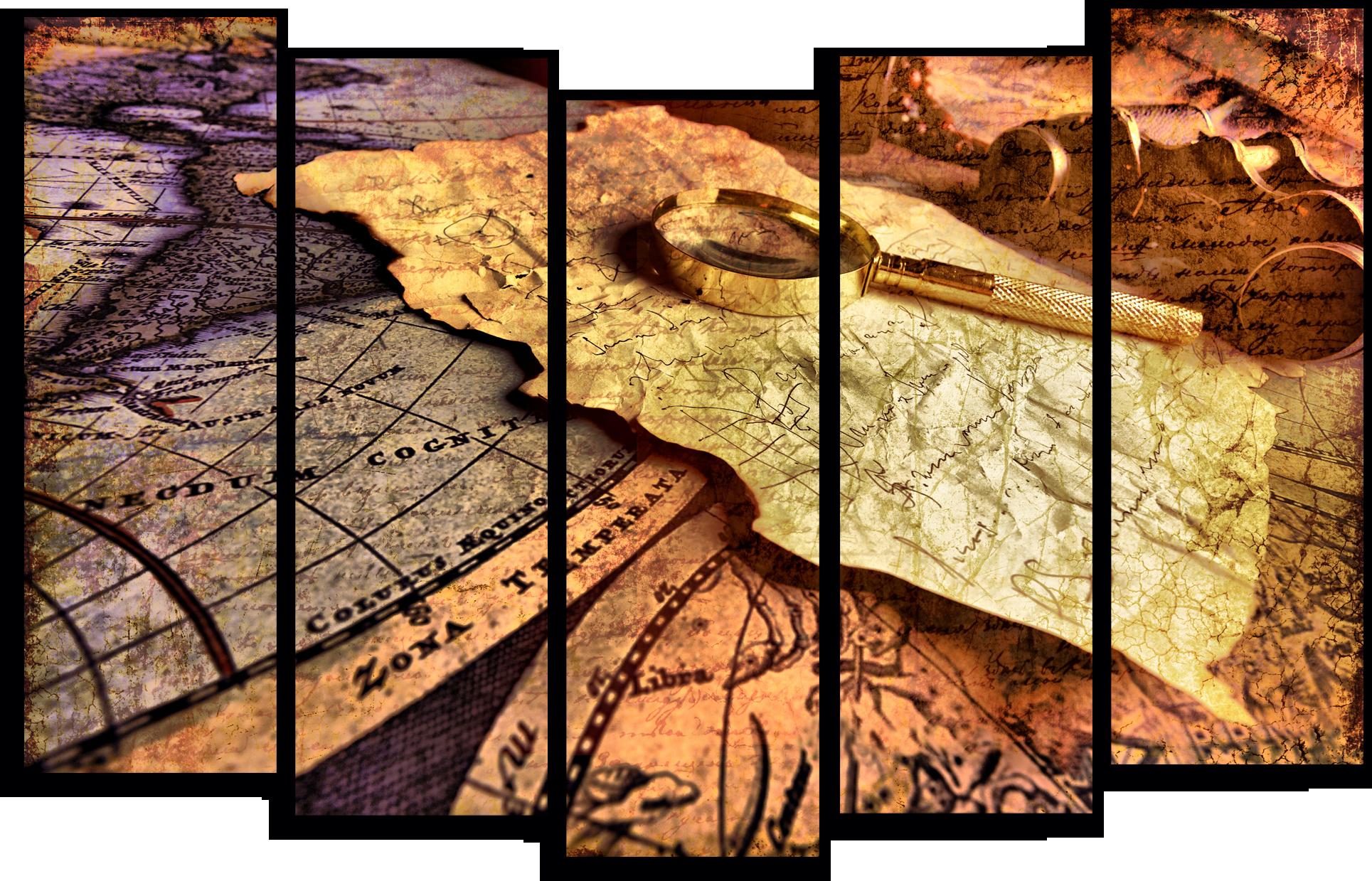 "Абстракция Модульная картина ""Старинная карта"" М545.png"