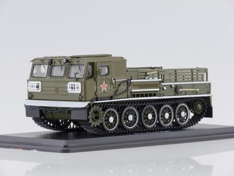 ATS-59G Artillery caterpillar tractor parade khaki 1:43 Start Scale Models (SSM)