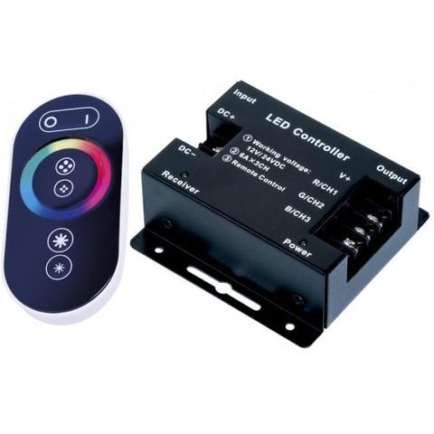 Контроллер RGB 12/24V. 288/576W. 24A с сенсорным пультом