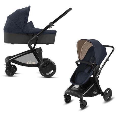 Детская коляска 2 в 1 CBX by Cybex Bimisi Pure Jeansy Blue