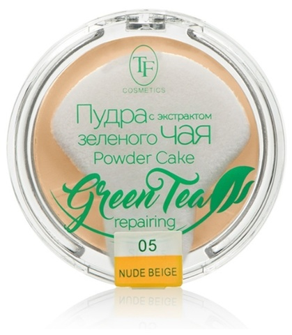 TF Пудра компактная с экстрактом зеленого чая тон 05 естественный беж  ТР-16