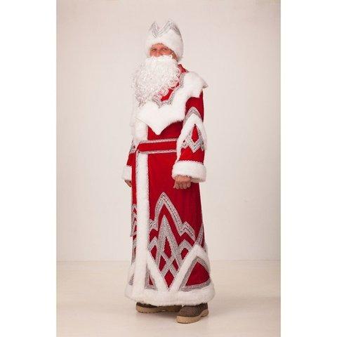 Костюм Дед Мороз Вышивка серебро взрослый