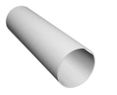 Труба водосточная  белая пластик (3м)