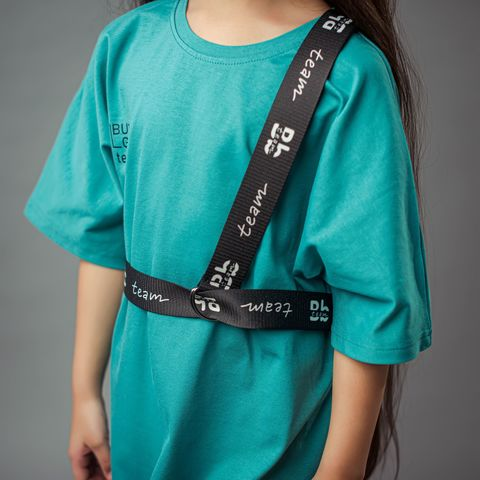 Bb team oversized T-shirt dress for teens - Aquamarine