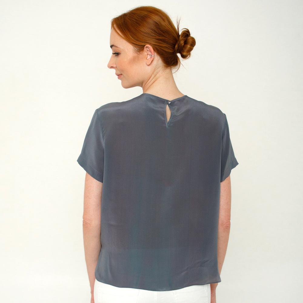 Шелковая блузка батик Сияние