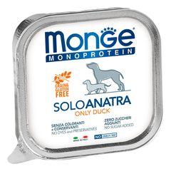 Паштет для собак Monge Dog Monoproteico Solo утка