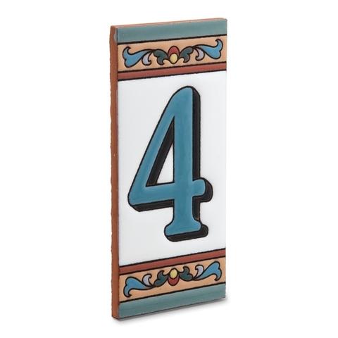 "Табличка с цифрой ""4"""