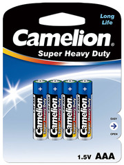 Батарейки Camelion Blue R03, AAA (4/48) BL