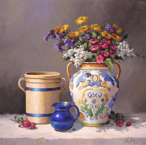 Алмазная Мозаика 40x50 Полевые цветы в вазе