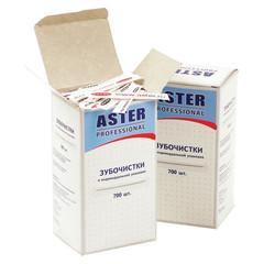 Зубочистки деревянные Aster Professional 700 штук в бумажных упаковках