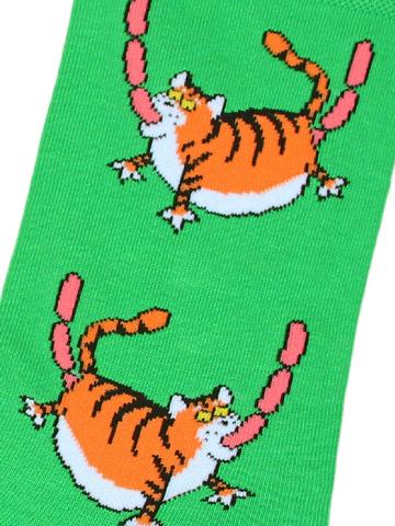 Носки Тигр зеленый