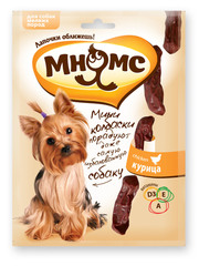 Мини-колбаски с курицей для собак мелких пород Мнямс