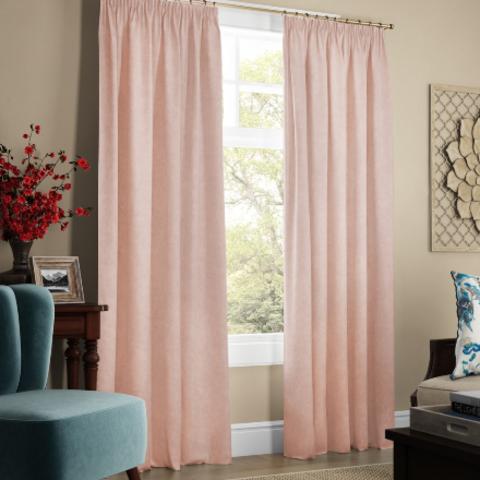 Комплект штор с подхватами Адалин светло-розовый