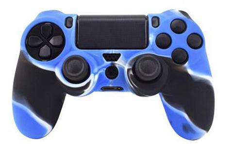 Чехол для геймпада DualShock 4 (камуфляж синий)