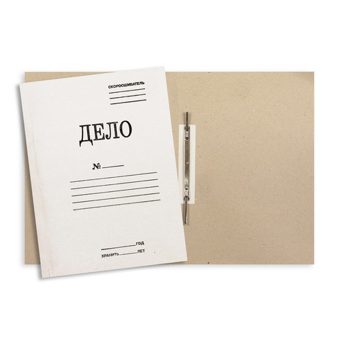 Скоросшиватель картонный Attache Дело № А4 до 200 листов белый (плотность 360 г/кв.м)