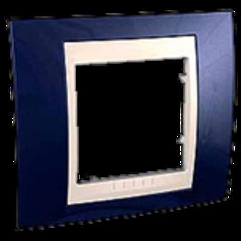 Рамка на 1 пост. Цвет Индиго/Бежевый. Schneider electric Unica Хамелеон. MGU6.002.542