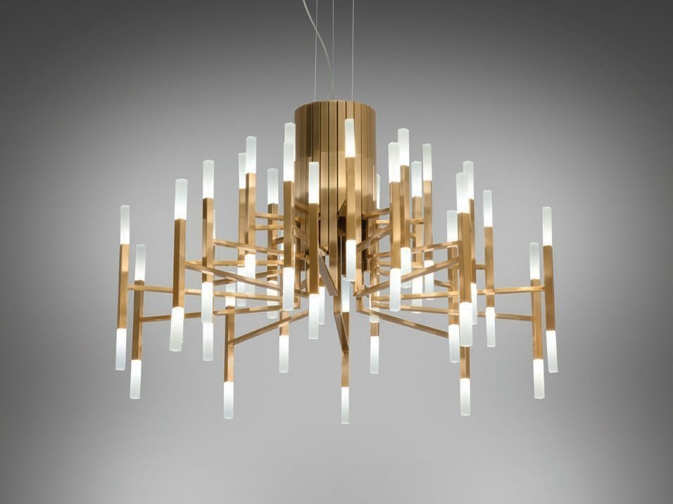 Подвесной светильник копия THE LIGHT by Alma 18 плафонов (золотой)