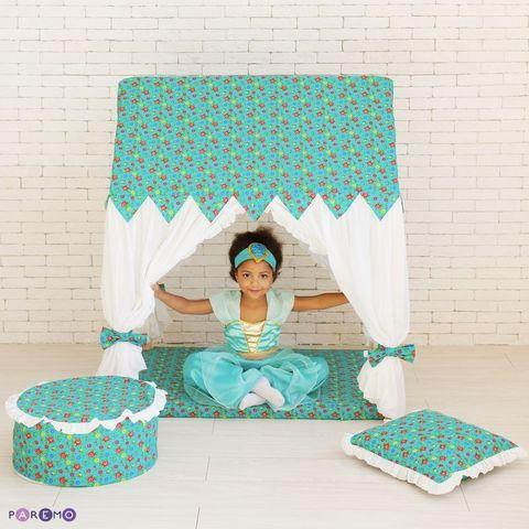 """Текстильный домик с пуфиком """"Дворец Жасмин"""""""