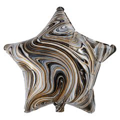 Воздушный шар Звезда - Агат (Чёрная)