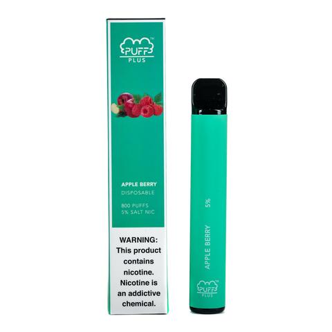 Одноразовая электронная сигарета Puff PLUS Apple Berry (Яблоко ягоды)