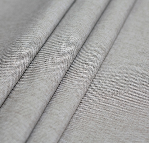 Ткань рогожка Джейн бежево-серый