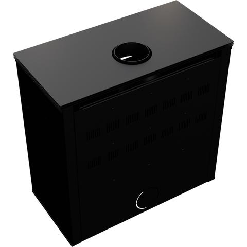 Печь-камин Kratki JUNO/12/C (Черный) (12 кВт) Под заказ