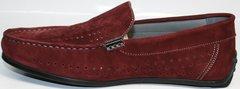 Красные мужские мокасины IKOC 1555-3 Red.