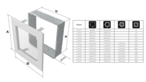 Вентиляционная решетка Графит с задвижкой (22*22) 22GX