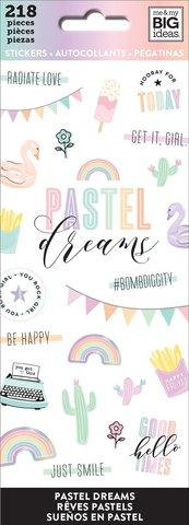 Блокнот со стикерами-Happy Planner Sticker Sheets- Pastel Dreams, 218 шт