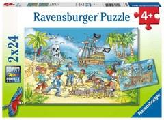 Puzzle Die Abenteuerinsel 2x24 pcs