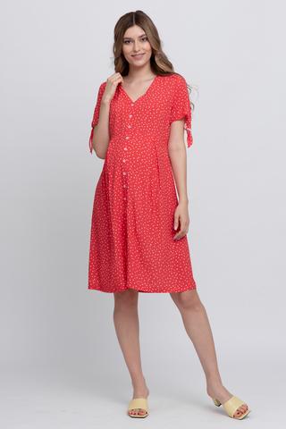 Платье для беременных 12605 горох