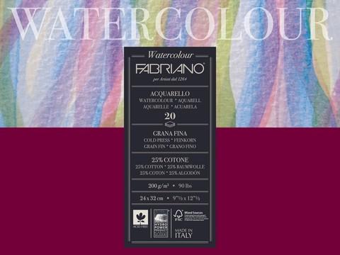 Скетчбук-склейка для акварели Fabriano