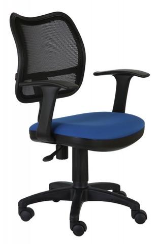 спинка сетка черный сиденье синий 26-21
