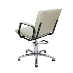 Парикмахерское кресло Калибра гидравлика хром, пятилучье хром на подпятниках