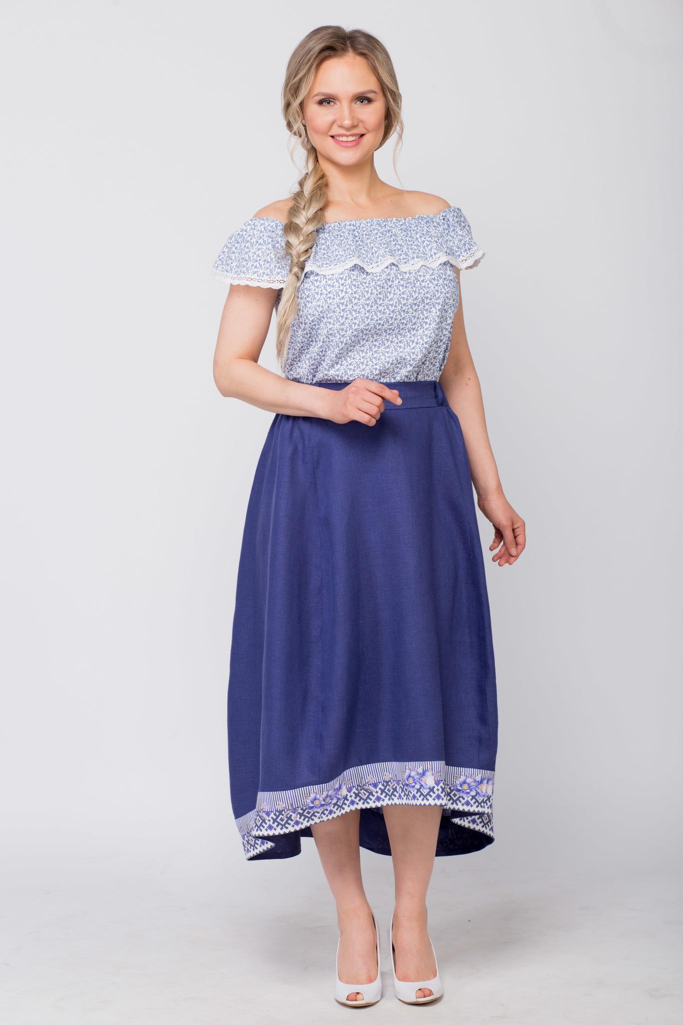 Блуза хлопковая Есения с юбкой