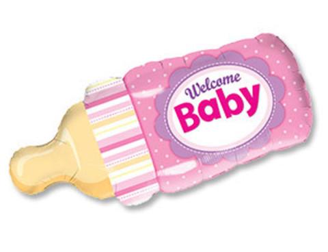 Фольгированный шар Бутылочка для девочки