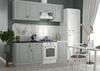 Модульный кухонный гарнитур «Гранд» 2100мм (Пепел), ЛДСП/МДФ, ДСВ Мебель