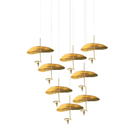 Подвесной светильник копия Gold Moon by Catellani & Smith (8 плафонов)