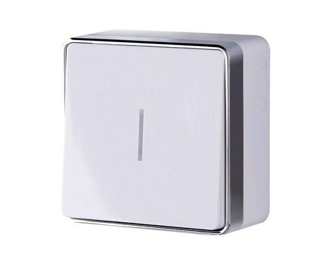 Werkel Выключатель W5010101 (WL15-01-04) белый (1-кл с подсв.)