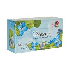 Салфетки бумажные, MANEKI, Dream, белые, 2 слоя, коробка, 200 шт.
