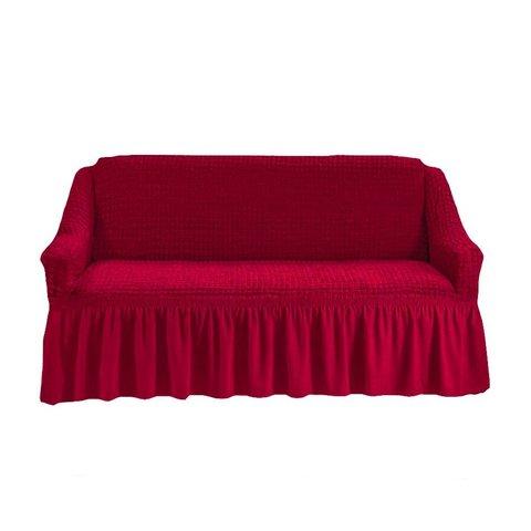 Чехол на двухместный диван, бордовый