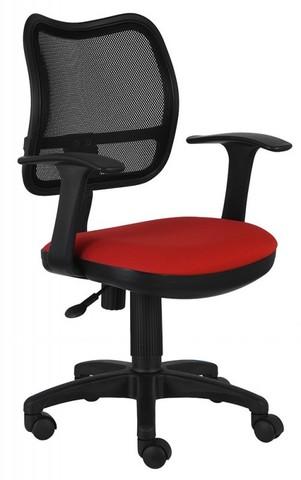 спинка сетка черный сиденье красный 26-22
