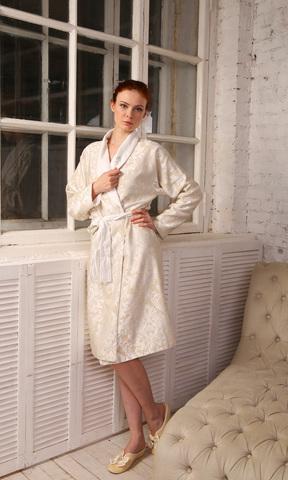 Махрово-жаккардовый халат VITALY S