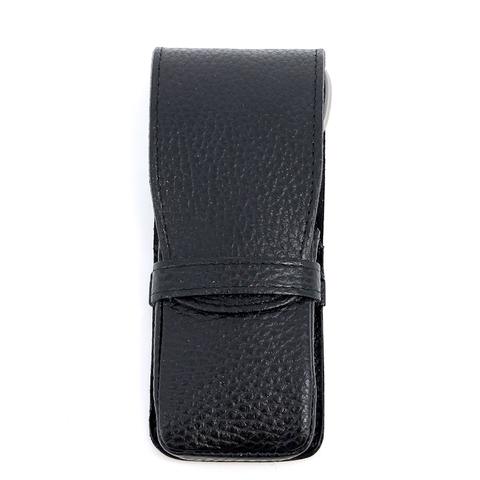 Маникюрный набор Dovo, 4 предмета, цвет черный, кожаный футляр