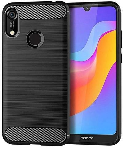 Чехол Huawei Y6 2019 (Honor 8A Pro) цвет Black (черный), серия Carbon, Caseport