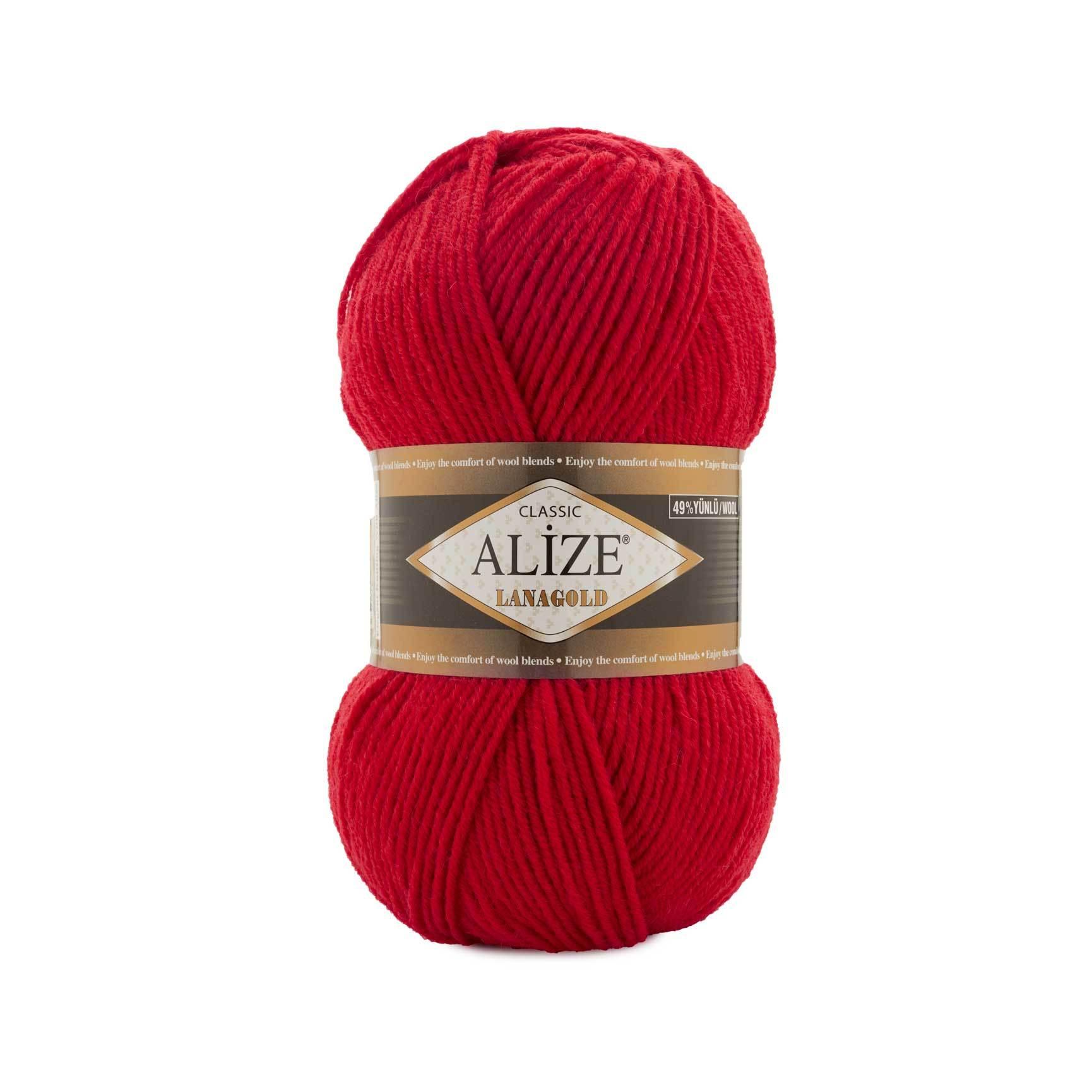 Пряжа Alize Lanagold 251 красный