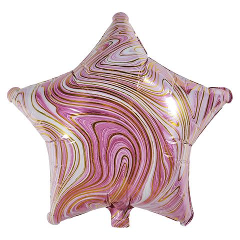 Воздушный шар Звезда - Агат (Розовая)